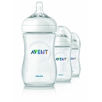Philips Avent 9oz BPA Free Natural Polypropylene Bottles 3 Pack