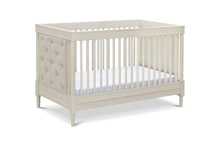Franklin & Ben Everly 4-in-1 Convertible Crib Distressed White without Distressing Marks
