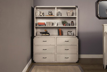 Franklin & Ben Providence Hutch  Distressed White with Distressing Marks