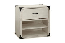 Franklin & Ben Providence Nightstand  Distressed White with Distressing Marks