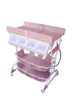Baby Diego Deluxe Bathinette Baby Bath & Changing Table Combo - Pink