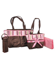 Carter's 5-in-1 Diaper Bag Pink-Brown