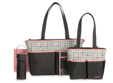 Carter's 5-in-1 Diaper Bag, Pink Geo Print