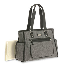 Carter's City Tote Diaper Bag, Herringbone