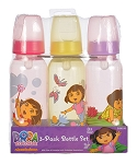 Baby King Dora 3-Pack Bottle Set 0+M