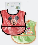 Baby King Crumb Catcher Bib Mickey 2-Pack