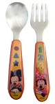 Baby King Mickey Mouse Clubhouse Fork & Spoon Set