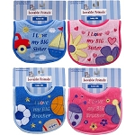 Baby Vision Brother & Sister Applique Baby Bib
