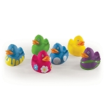 Luvable Friends Printed Rubber Duckies, Pack of 6
