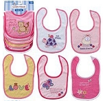 Baby Vision 6Pk Bibs Embroidered