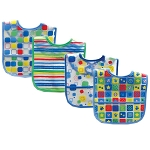 Luvable Friends 4 Pack Peva Bibs