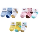Baby Vision 3-Pack Applique Newborn Socks