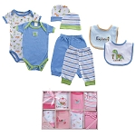 Luvable Friends 8 PC Grow With Me Clothing Gift Set