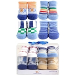Luvable Friends Boy Novelty Socks 4 Piece Gift Set