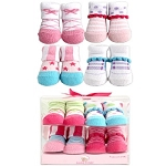 Luvable Friends 4 Piece Girl Novelty Sock Gift Set