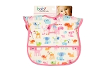 Baby Esentials PEVA Wipe Clean Bib - Doggies