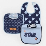 "Baby Essentials 'Star"" 3 Pack Assorted Bibs"
