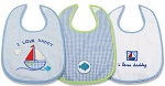 "Baby Essentials Bib's 3-Pack Boy "" I Love Daddy"""