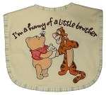 "Disney Feeder Bibs Winnie The Pooh ""I'm a Hunny of a Little Brother"""