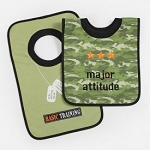 "Baby Essentials® 2-Pullover Bibs ""Major Attitude"" Boy"