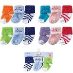 Luvable Friends Newborn Socks, 3 Pack
