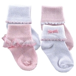 Luvable Friends Ribbed Cuff 4Pk Socks 0-6 Months