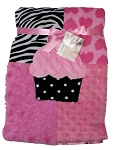 Baby Essentials® Plush Blanket Patchwork Cupcake
