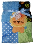 Baby Essentials Plush Blanket Patchwork Jungle