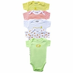 Baby Vision Bodysuits in Pastel 5PK