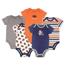 Luvable Friends Hanging Football Bodysuits - 5-Pack