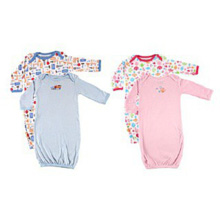 Luvable Friends Infant Sleepwear Gowns, 2 PK
