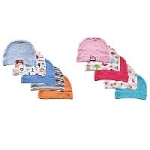 Luvable Friends Baby Caps 5-Pack