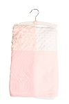 Baby Essentials Plush Patchwork Blanket Pink