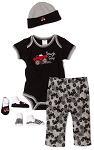 "Baby Essentials ""Tough Guy"" 5 Piece Layette Set"