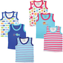 Luvable Friends Sleeveless Tee Tops, 3-Pack