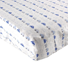 Luvable Friends Flannel Crib Sheet, Cars