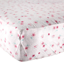 Luvable Friends Flannel Crib Sheet, Flowers