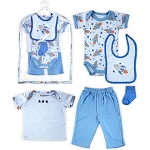 Hudson Baby Mesh Bag Gift Set Rocket for Boy