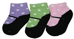 Baby Essentials Mary Jane 6-Pairs of Socks 6-12 Months Girl