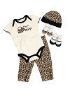 "Baby Essentials ""Born To Shop"" 5 Piece Layette Set"