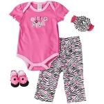 "Baby Essentials 4-Pieces Layette Set ""Little Diva"" Pink"