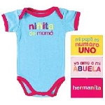 Luvable Friends Spanish BodySuit 1-Pack Girl-Small
