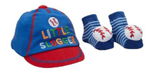 Baby Essentials Lil Slugger Cap & Socks Set