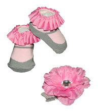 Bbaby Essentials Rose Headband & Socks, Pink