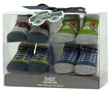 Baby Essentials 4 PC Rugged Sock Gift Set
