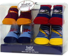 Baby Essentials 4 PK Sport Sock Assortment