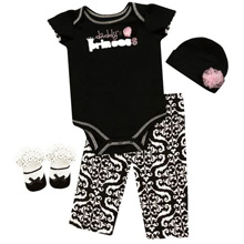 Baby Essentials Daddy's Princess 4 Piece Layette Set