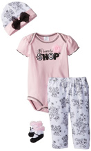 Baby Essentials Born To Shop 4 Piece Layette Set