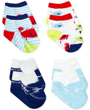 Baby Essentials Crab 4 Piece Sock Set