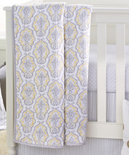A.D.Sutton Wendy Bellisimo Damask Quilt Yellow-Grey